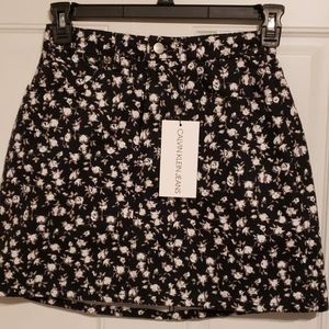 Calvin Klein jeans high rise mini skirt